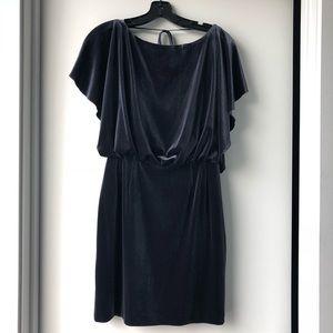 Jessica Simpson Velvet Flutter Split Sleeve Dress